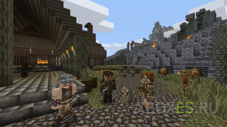 Minecraft получит DLC Skyrim Mash-Up