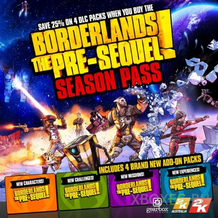Известны детали Season Pass для Borderlands: The Pre-Sequel